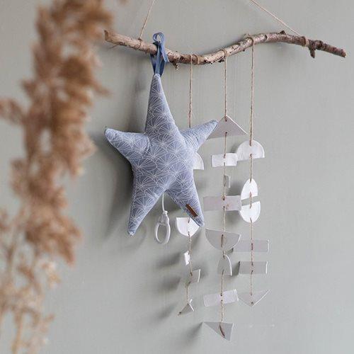 Afbeelding van Muziekdoos Ster Lily Leaves Blue