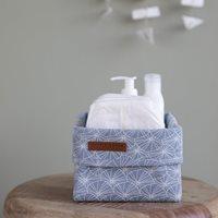 Panier de toilette petit Lily Leaves Blue