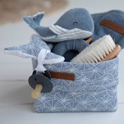 Picture of Storage basket, small Lily Leaves Blue