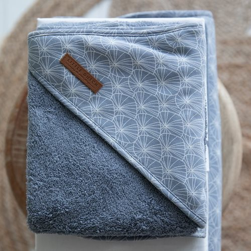 Picture of Hooded towel Lily Leaves Blue