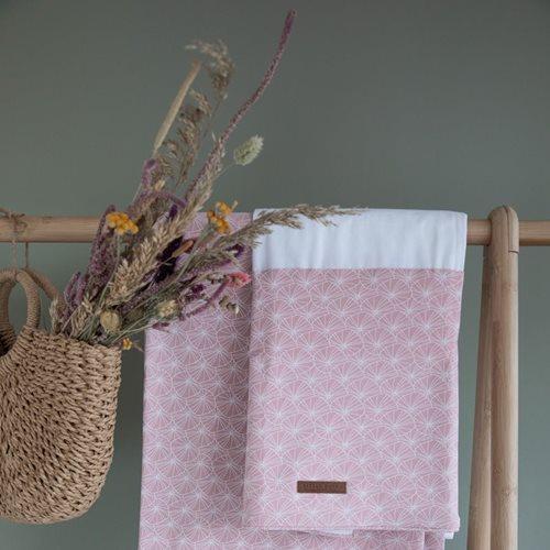 Drap de lit bébé Lily Leaves Pink