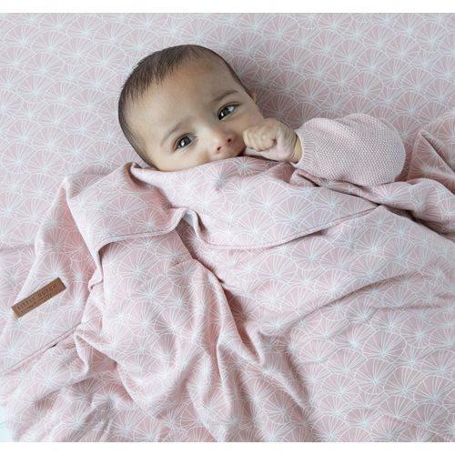 Afbeelding van Dekenovertrek wieg Lily Leaves Pink