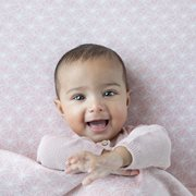 Drap-housse lit bébé Lily Leaves Pink