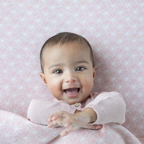 Afbeelding van Hoeslaken ledikant Lily Leaves Pink
