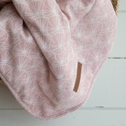 Picture of Cot blanket Lily Leaves Pink