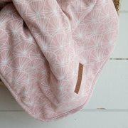 Afbeelding van Ledikantdeken Lily Leaves Pink