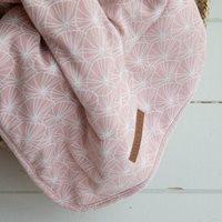 Wiegedecke Lily Leaves Pink