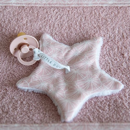 Picture of Pacifier cloth Lily Leaves Pink