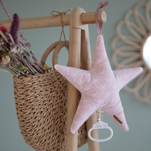 Picture of Star-shaped music box Lily Leaves Pink