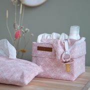 Picture of Storage basket, small Lily Leaves Pink