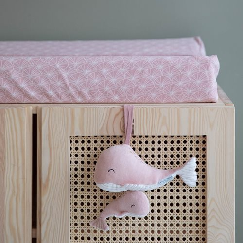 Wickelauflagenbezug Lily Leaves Pink
