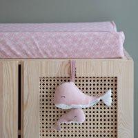 Afbeelding van Aankleedkussenhoes Lily Leaves Pink