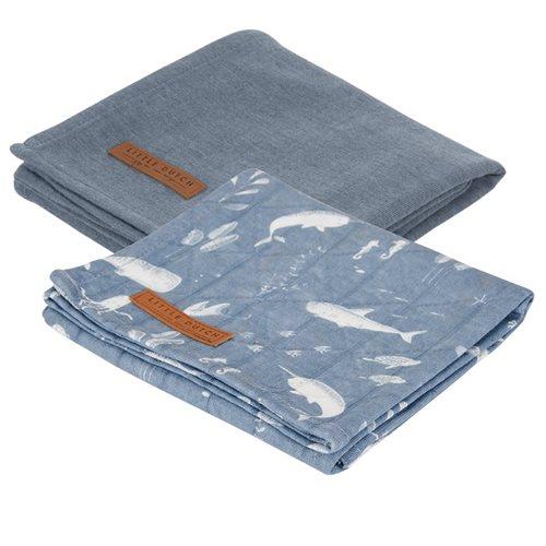 Picture of Muslin cloths 70 x 70 Ocean Blue/Pure Blue