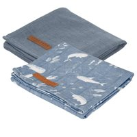 Picture of Swaddles 70 x 70 Ocean Blue / Pure Blue