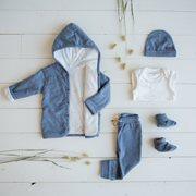 Veste bébé 56, Blue Melange - Ocean
