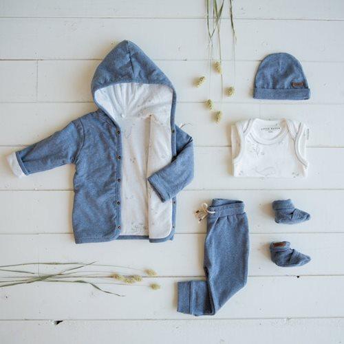 Veste bébé 62, Blue Melange - Ocean