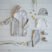 Baby-Jacke 56, Grey Melange - Ocean