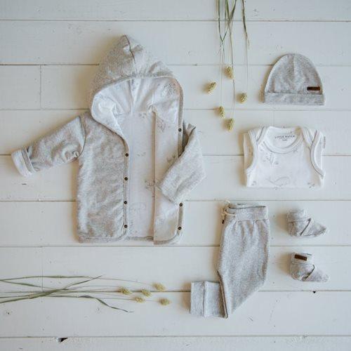Baby-Jacke 68, Grey Melange - Ocean