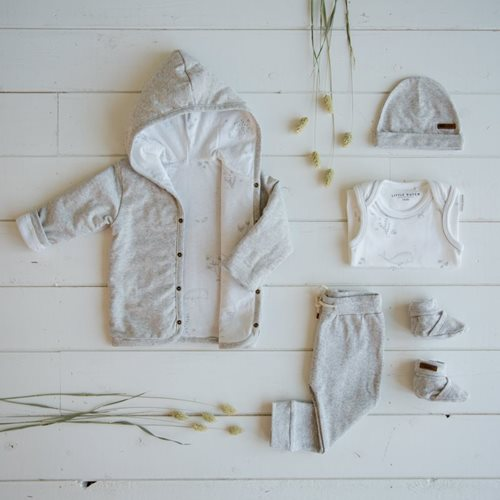 Picture of Baby jacket 74, Grey Melange - Ocean