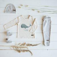 T-Shirt 68 langen Ärmeln Wal - Ocean