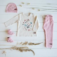 Picture of T-Shirt 68 long sleeves with print - Spring Flowers