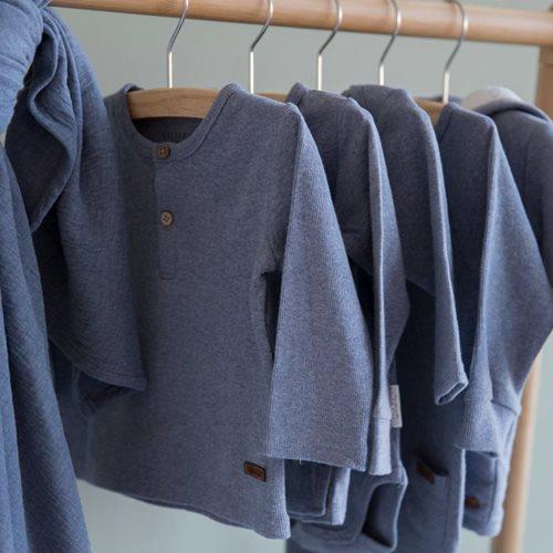 T-Shirt 62 langen Ärmeln Blue Melange