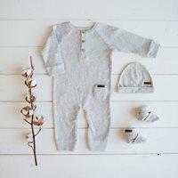 Bonnet bébé Grey Melange - Taille 2