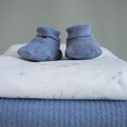 Babyschuhe 15/16, Blue Melange