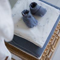 Picture of Baby booties 17/18, Blue Melange