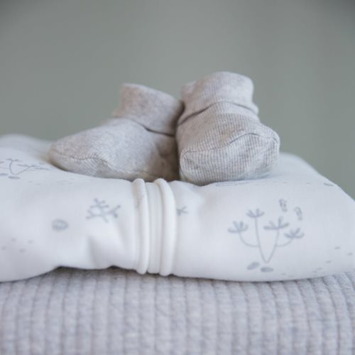 Picture of Baby booties 17/18, Grey Melange