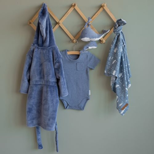 Picture of Baby bodysuit short sleeves 62/68 - Blue Melange