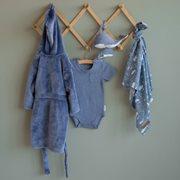 Body kurzen Ärmeln 74/80 - Blue Melange