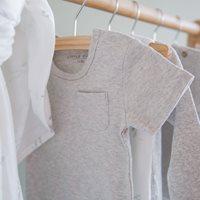 Picture of Baby bodysuit short sleeves 62/68 - Grey Melange