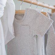 Body manches courtes 62/68 - Grey Melange