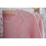 Body manches longues 62/68 - Pink Melange