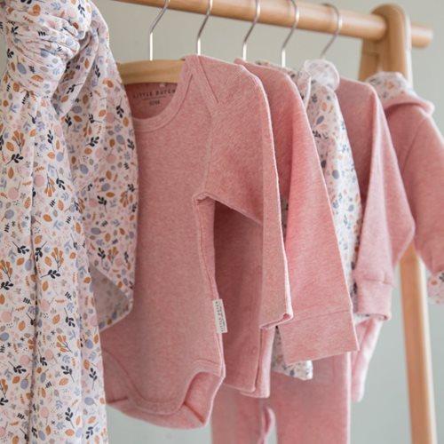 Body langen Ärmeln 62/68 - Pink Melange