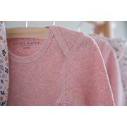 Picture of Baby bodysuit long sleeves 74/80 - Pink Melange
