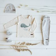 Picture of Baby Trousers 56 - Grey Melange