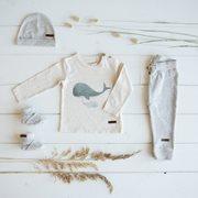 Babyhose 62 - Grey Melange