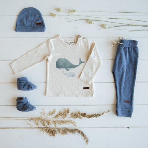 Babyhose 68 - Blue Melange