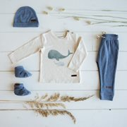 Babyhose 74 - Blue Melange