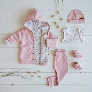 Pantalon bébé 62 - Pink Melange