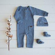 Combinaison bébé 56 - Blue Melange