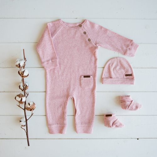 Combinaison bébé 50 - Pink Melange