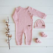 Combinaison bébé 56 - Pink Melange