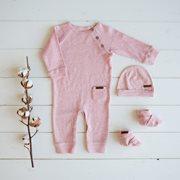 Combinaison bébé 68 - Pink Melange