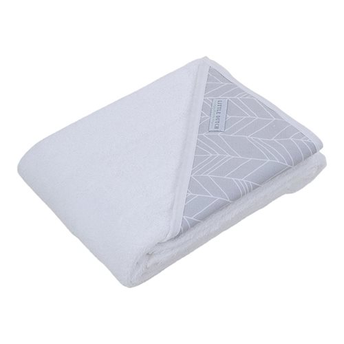 Picture of Hooded towel - grey leaves