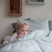 Housse de couette lit bébé Lily Leaves Mint