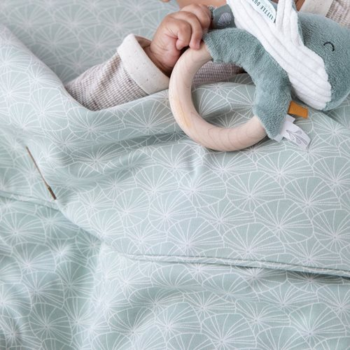 Picture of Bassinet blanket cover Lily Leaves Mint