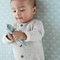 Drap-housse 70x140/150 Lily Leaves Mint